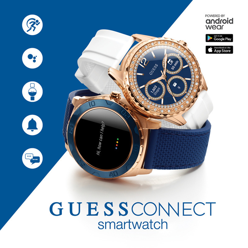 Zegarek męski smartwatch Guess Connect Android Wear Bluetooth C1001G2