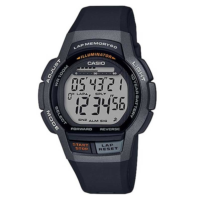 Zegarek unisex Casio Digital WS-1000H-1AVE